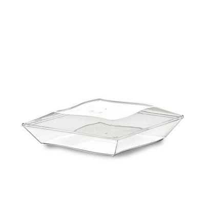 Piatti di plastica eleganti Vanity 16x16cm trasparenti con coperchio