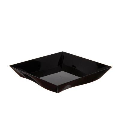 Piatti di plastica rigida quadrati eleganti Vanity nero