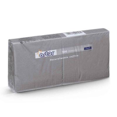 Tovaglioli di carta per cocktail 25x25 cm grigio