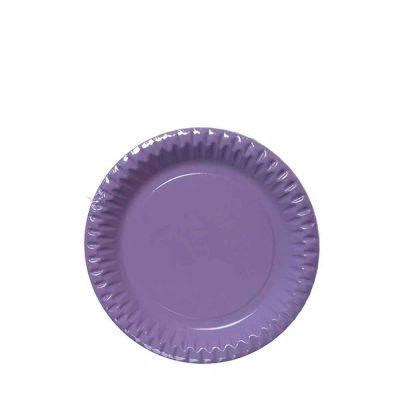 Piattini di carta lilla in cartoncino per feste DOpla Party Ø18 cm