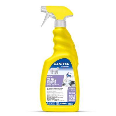 Smacchiatore X3 per olii inchiostri e cere Sanitec 500 ml