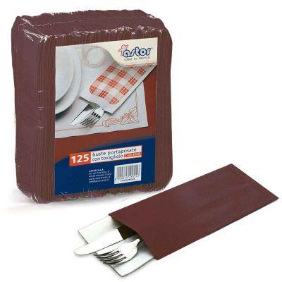 Buste sacchetti portaposate in carta paglia marrone