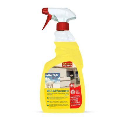Multi Activ disinfettante profumato al Limone per superfici Sanitec 750 ml