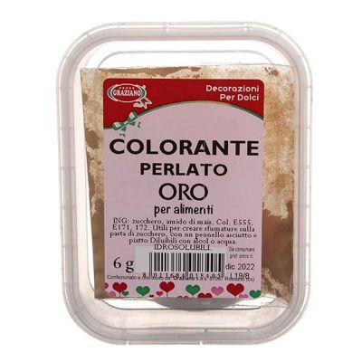 Colorante in polvere per alimenti oro perlato 6 g