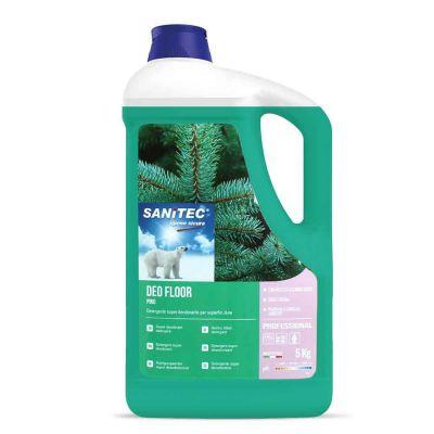Deo Floor detergente profumato per superfici al pino Sanitec 5 L