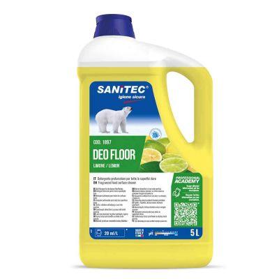 Deo Floor detergente profumato per superfici al limone Sanitec 5 L