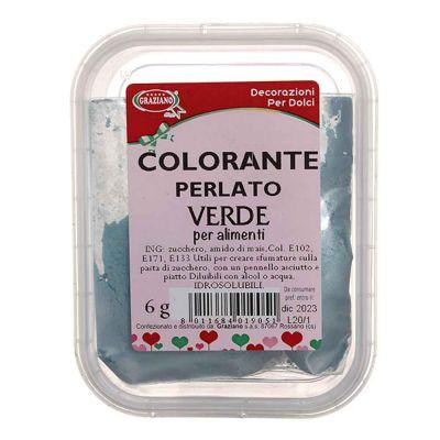 Colorante in polvere per alimenti verde perlato 6g Graziano