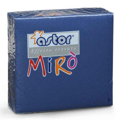 Tovaglioli di carta microgoffrati TNT 2 veli 38x38 blu