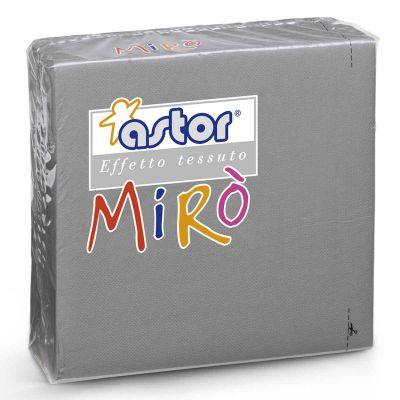 Tovaglioli di carta microgoffrati TNT 38x38 grigio argento