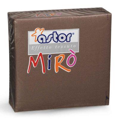 Tovaglioli di carta microgoffrati TNT 38x38 marrone cioccolato
