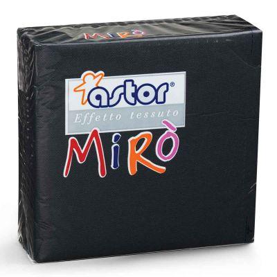 Tovaglioli di carta microgoffrati TNT 38x38 nero