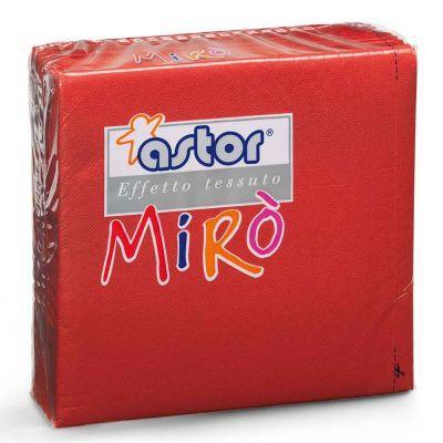 40 Tovaglioli di carta microgoffrati TNT 2 veli 38x38 rossi