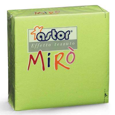 40 Tovaglioli di carta microgoffrati TNT 2 veli 38x38 verde cedro