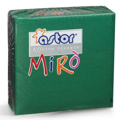 40 Tovaglioli di carta microgoffrati TNT 2 veli 38x38 verdi