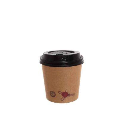 Bicchieri di carta stampati Ceralacca caffè con coperchio