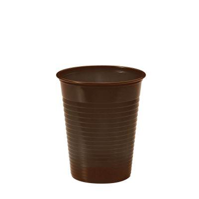 Bicchieri di plastica colorati DOpla marrone cioccolato
