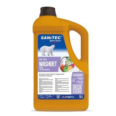 Washdet Argan detergente enzimatico per lavatrice Sanitec 5 L