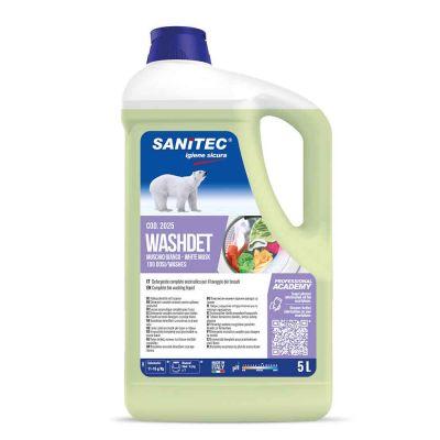 Washdet Muschio Bianco detergente enzimatico per lavatrice Sanitec 5 L