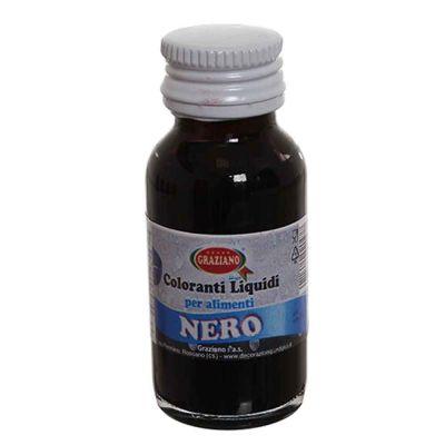 Colorante liquido concentrato per alimenti nero 35 g
