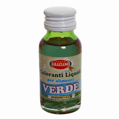 Colorante liquido concentrato per alimenti verde 35 g