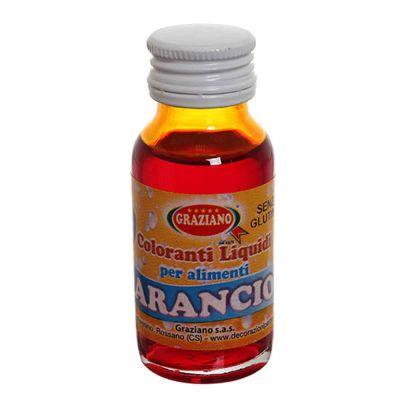 Colorante liquido concentrato per alimenti arancio 35 g
