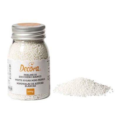 Perline di zucchero bianco per decorazione 100 g Decora