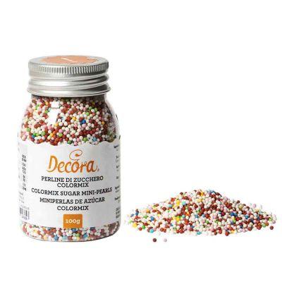 Perline di zucchero decorazioni colorate miste 100 g Decora