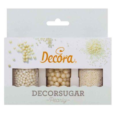 Set perle e perline color bianco perla per decorazioni 85 g Decora