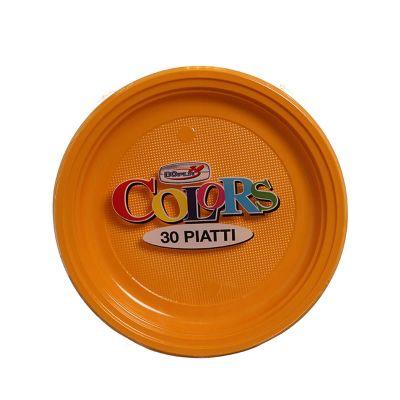 Piatti di plastica piani colorati DOpla Colors Ø22 mango
