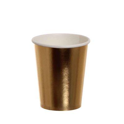 Bicchieri di cartoncino oro lucido Dopla Party 240ml