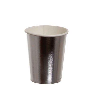 Bicchieri di cartoncino argento lucido Dopla Party 240ml
