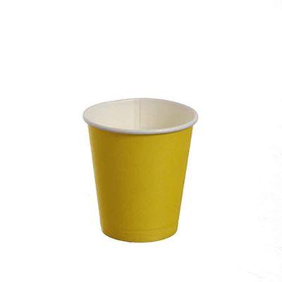 25 Bicchierini da caffè in carta gialli 80ml