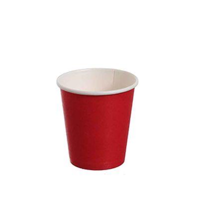 25 Bicchierini da caffè in carta rossi 80ml