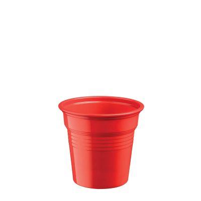 Bicchierini shot plastica rossi 80 ml da cicchetti o caffè