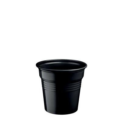 Bicchierini di plastica neri 80 ml per cicchetti o caffè