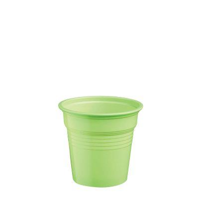Bicchierini shot plastica verde acido da cicchetti o caffè