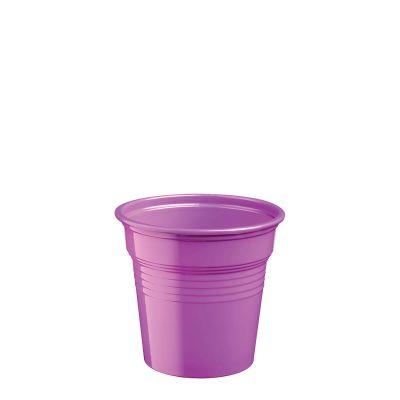 Bicchierini di plastica viola 80 ml per cicchetti o caffè