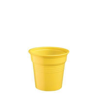 Bicchierini shot plastica gialli 80 ml da cicchetti o caffè