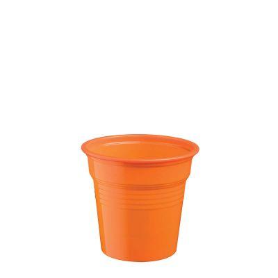 Bicchierini shot plastica arancione 80 ml da cicchetti o caffè