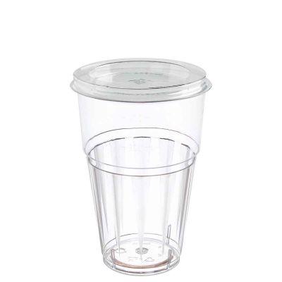 Bicchieri rigidi con coperchio piatto foro croce