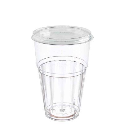 Bicchieri rigidi con coperchio piatto chiuso