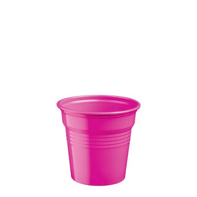 Bicchierini di plastica fucsia 80 ml per cicchetti o caffè