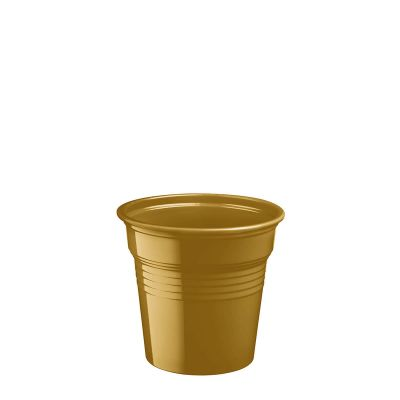 Bicchierini shot plastica oro 80 ml da cicchetti o caffè