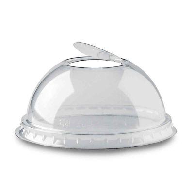 Coperchio bombato a cupola trasparente con foro Ø9,5 h4,5cm