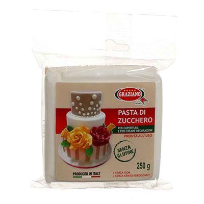 Pasta di zucchero bianca per copertura 250 g Graziano