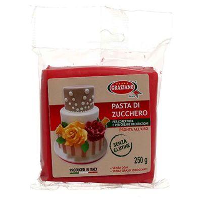 Pasta di zucchero rosso 250 g