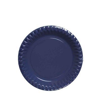 Piatti di carta blu in cartoncino per feste DOpla Party Ø23 cm