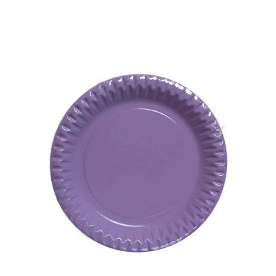 Piatti di carta lilla in cartoncino per feste DOpla Party Ø23 cm