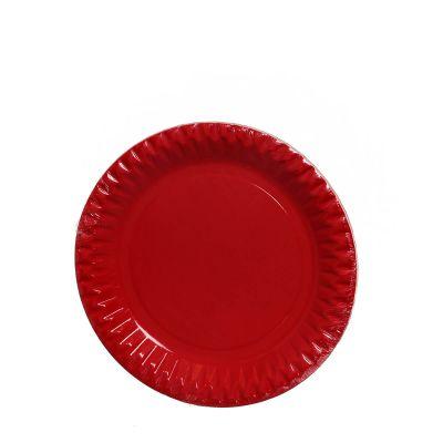 Piatti di carta colorati rossi DOpla Party 23cm