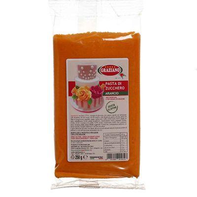 Pasta di zucchero arancio 250 g